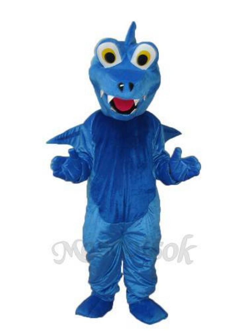Blue Thorn Dragon Mascot Adult Costume