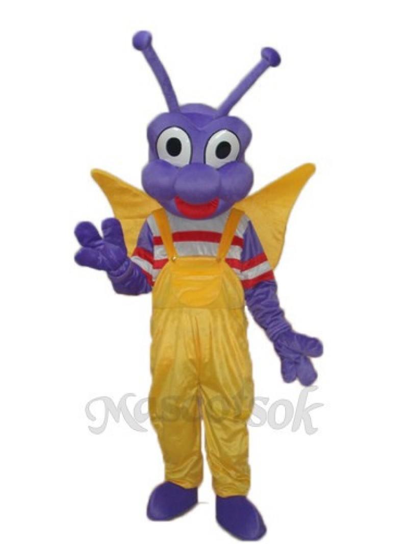 Purple BEE Bo Dudu Bobo Toot Mascot Adult Costume