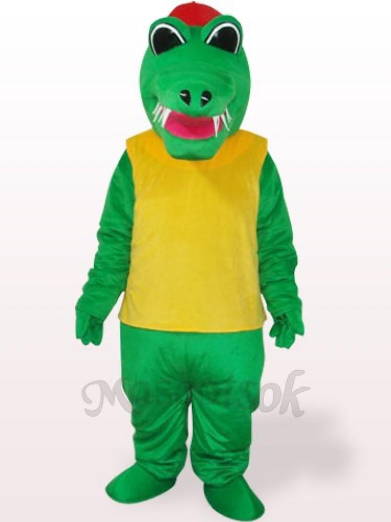 Africa Green And Yellow Crocodile Plush Adult Mascot Costume