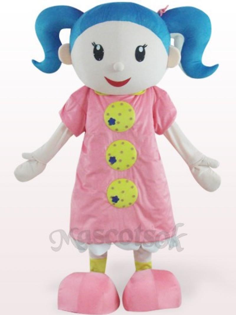 Cute Girl Plush Adult Mascot Costume