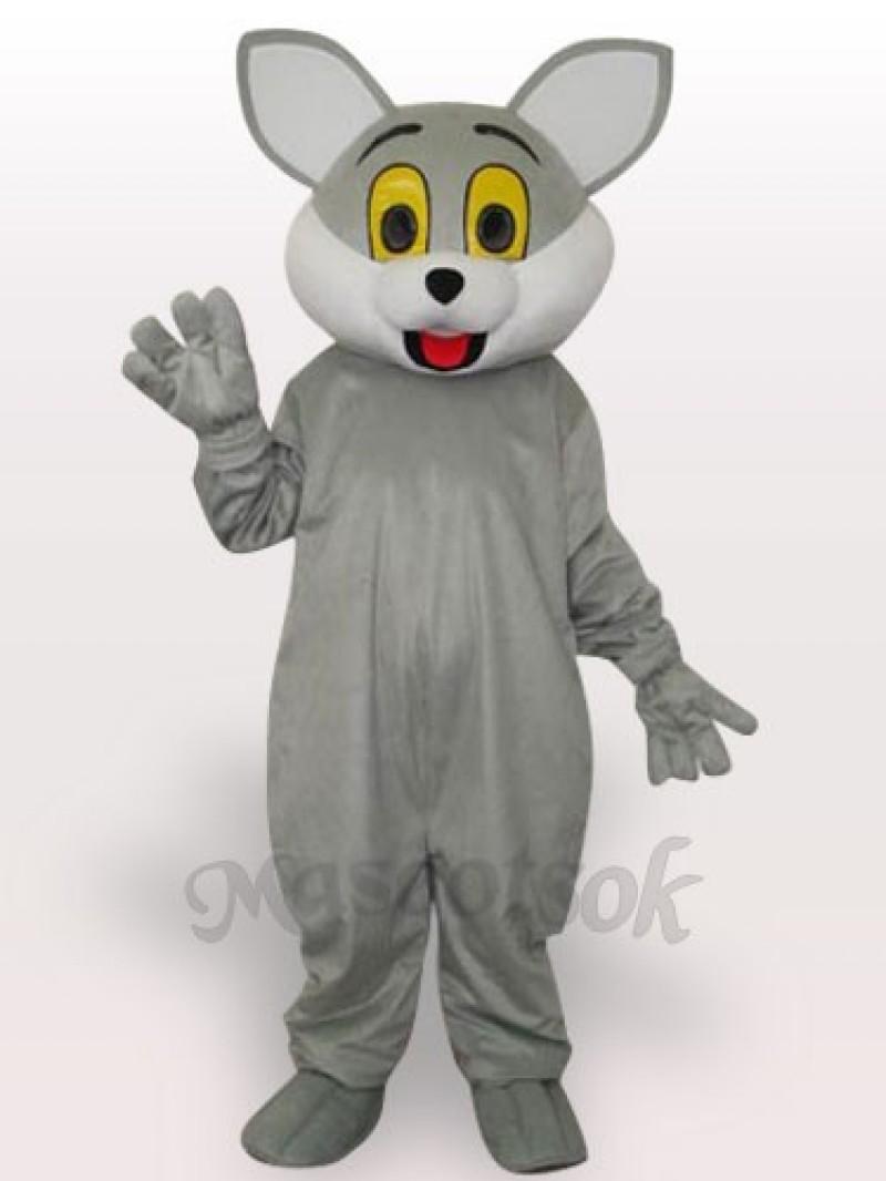 Gray Cat Short Plush Adult Mascot Costume