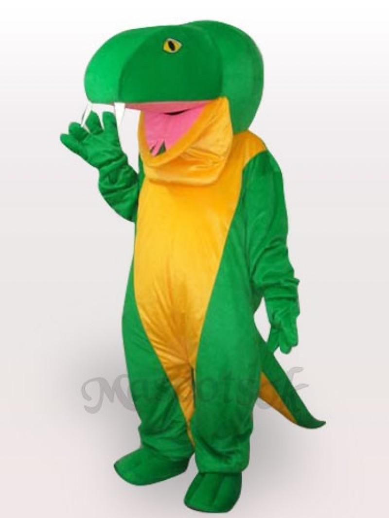 Green Snake Short Plush Adult Mascot Costume
