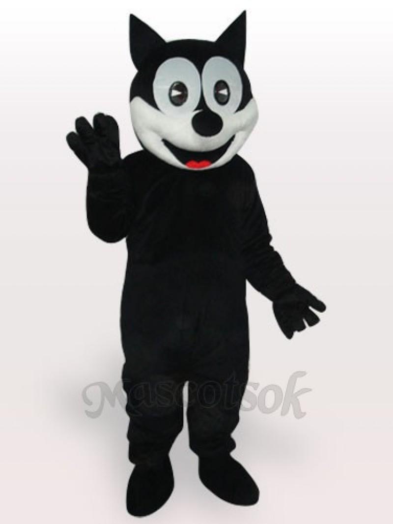 Happy Cat Short Plush Adult Mascot Costume
