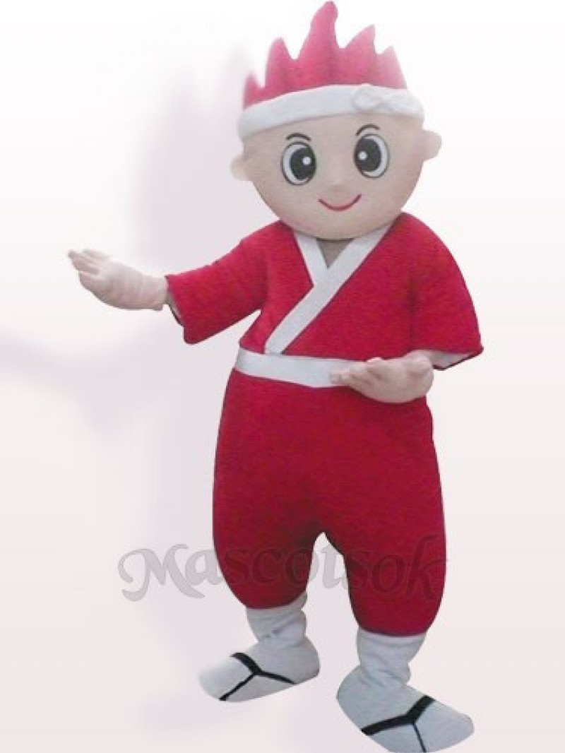 Japanese Boy Plush Adult Mascot Costume