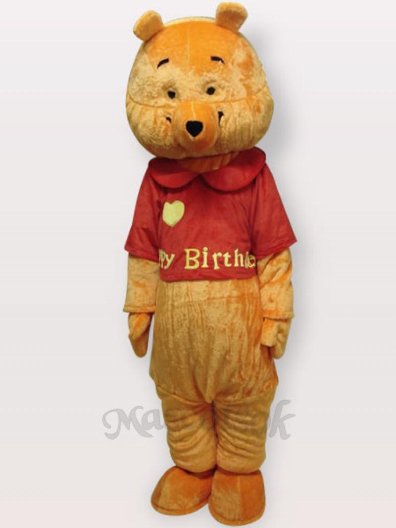 Love Bear Short Plush Adult Mascot Costume