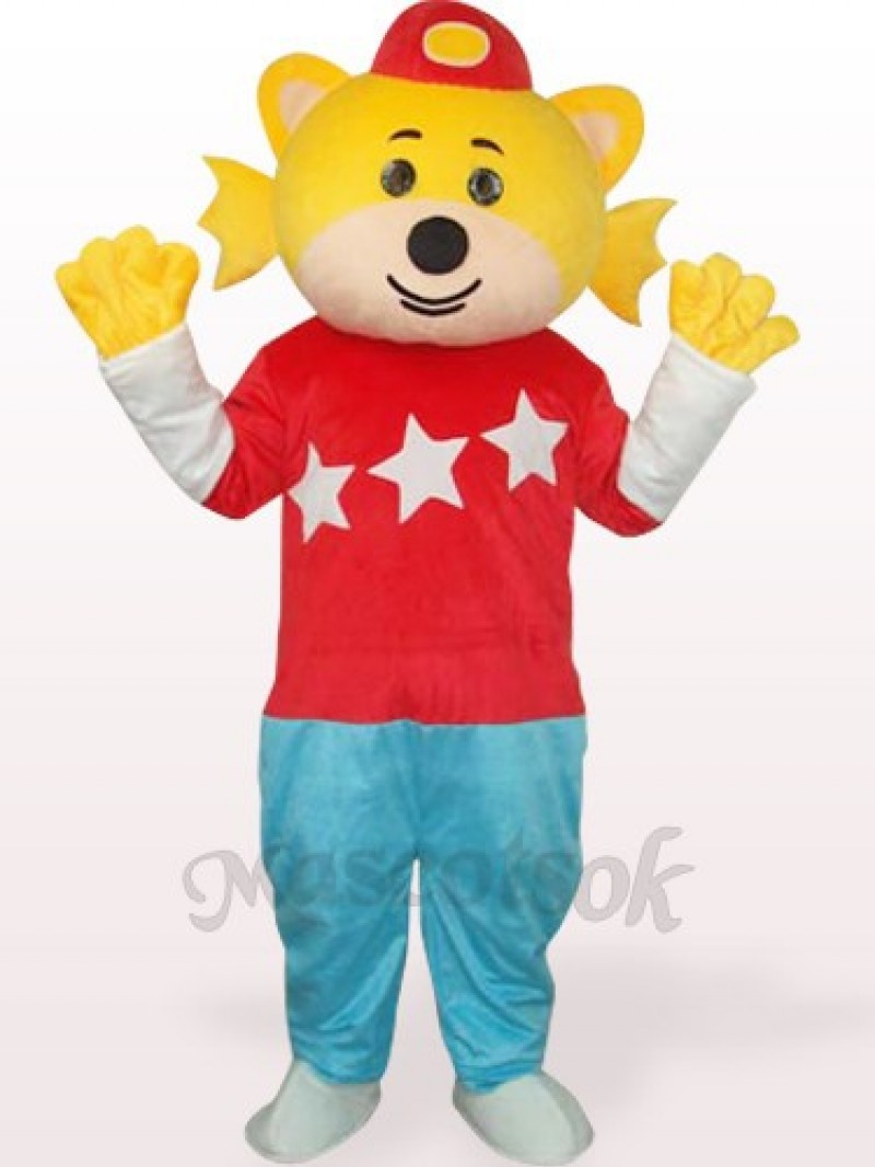 Lovely Boy In Red Clothes Plush Adult Mascot Costume