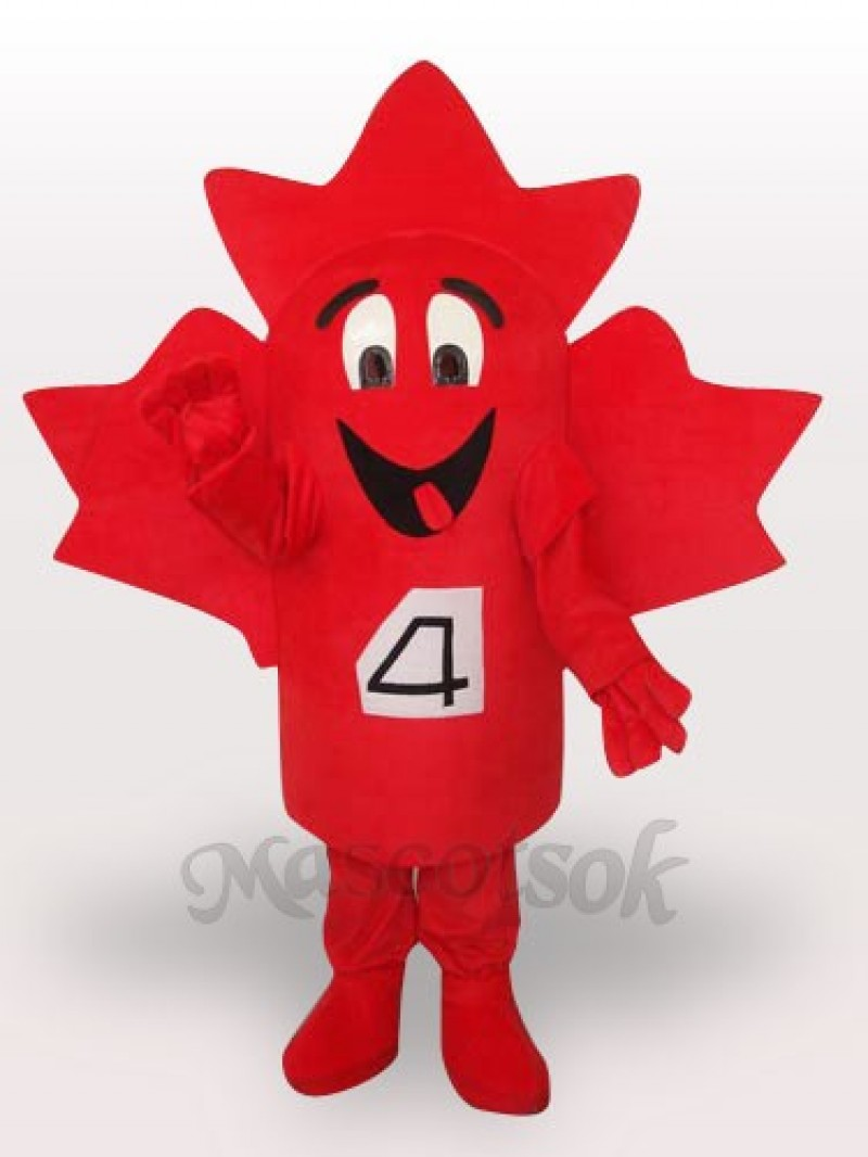 Maple Leaf Short Plush Adult Mascot Costume