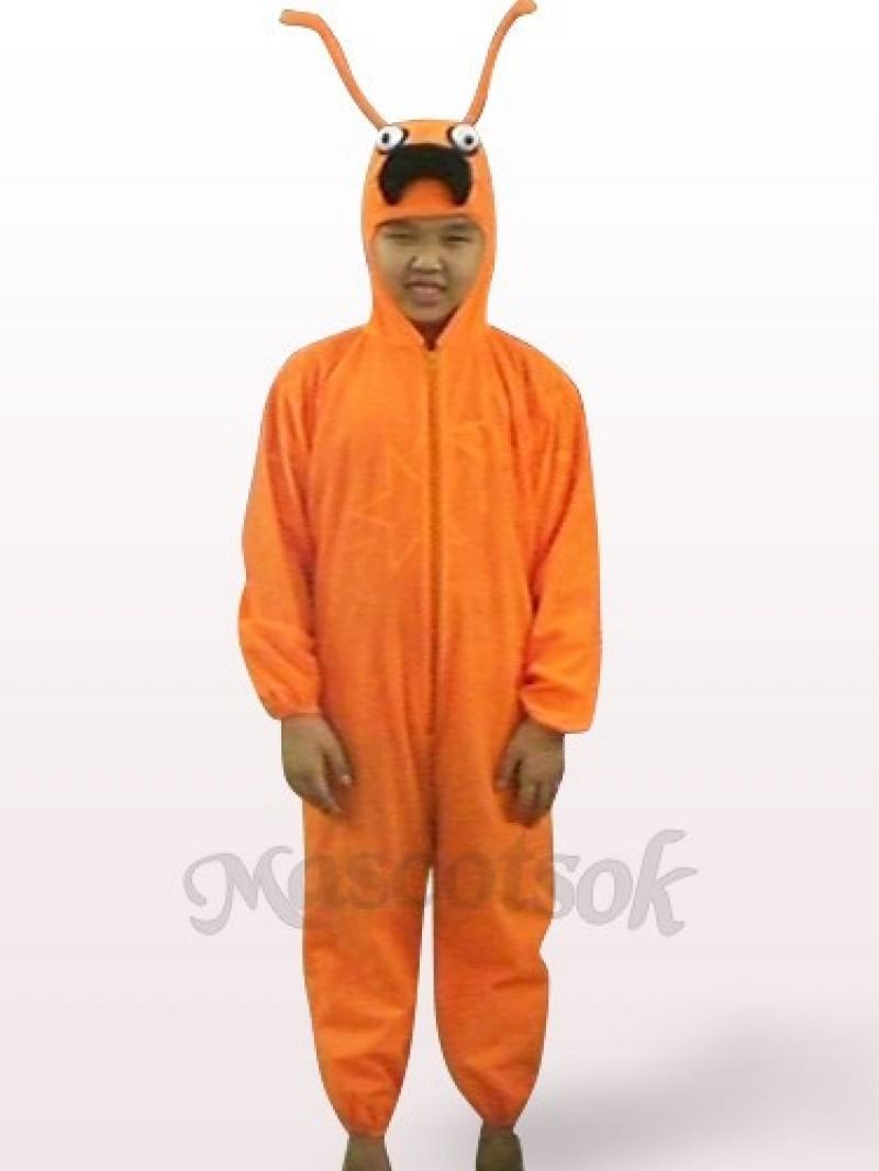 Orange Ant Open Face Kids Plush Mascot Costume