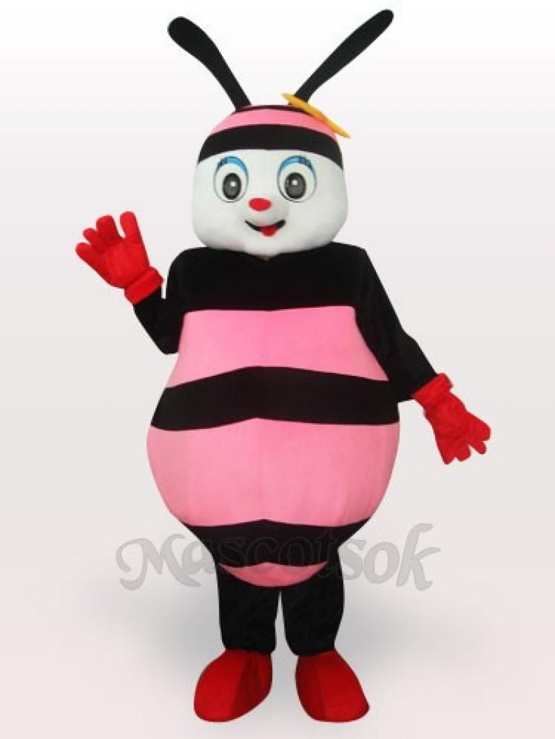 Pink Bee Adult Mascot Costume