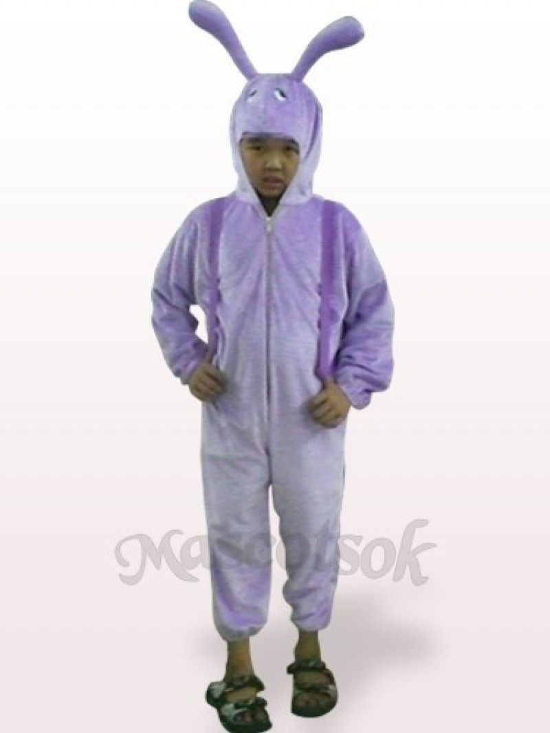 Purple Snail Open Face Kids Plush Mascot Costume