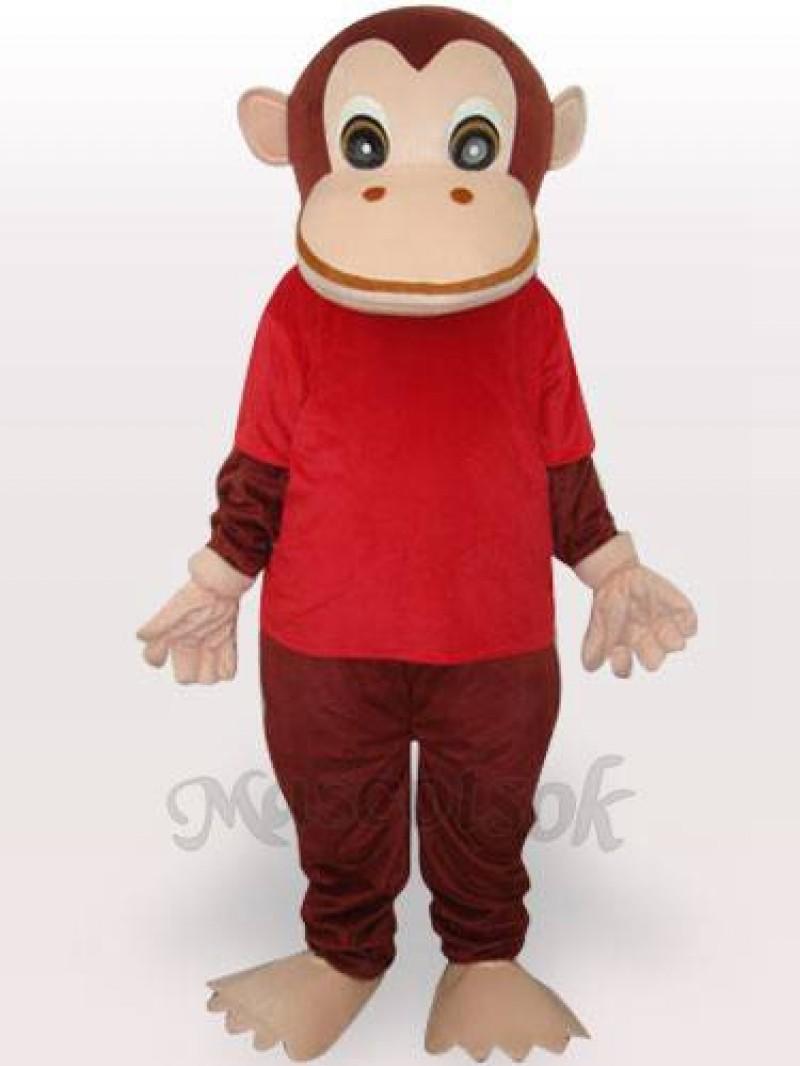 Red Gorilla Adult Mascot Funny Costume