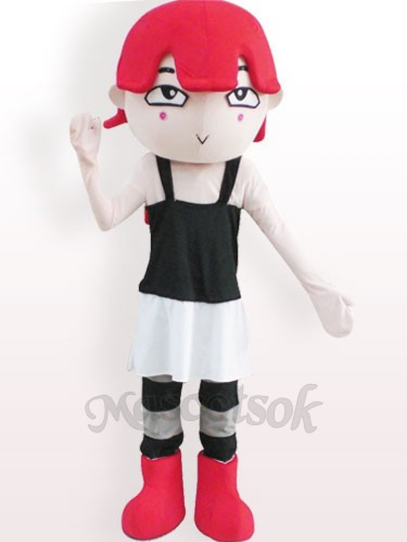 Red Haired Girl Plush Adult Mascot Costume