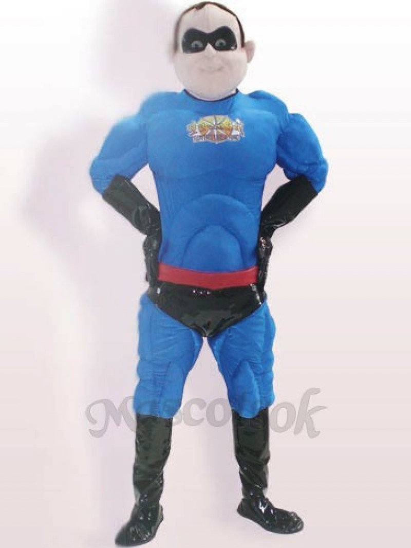 Super Man Polyester Bengaline Adult Mascot Costume