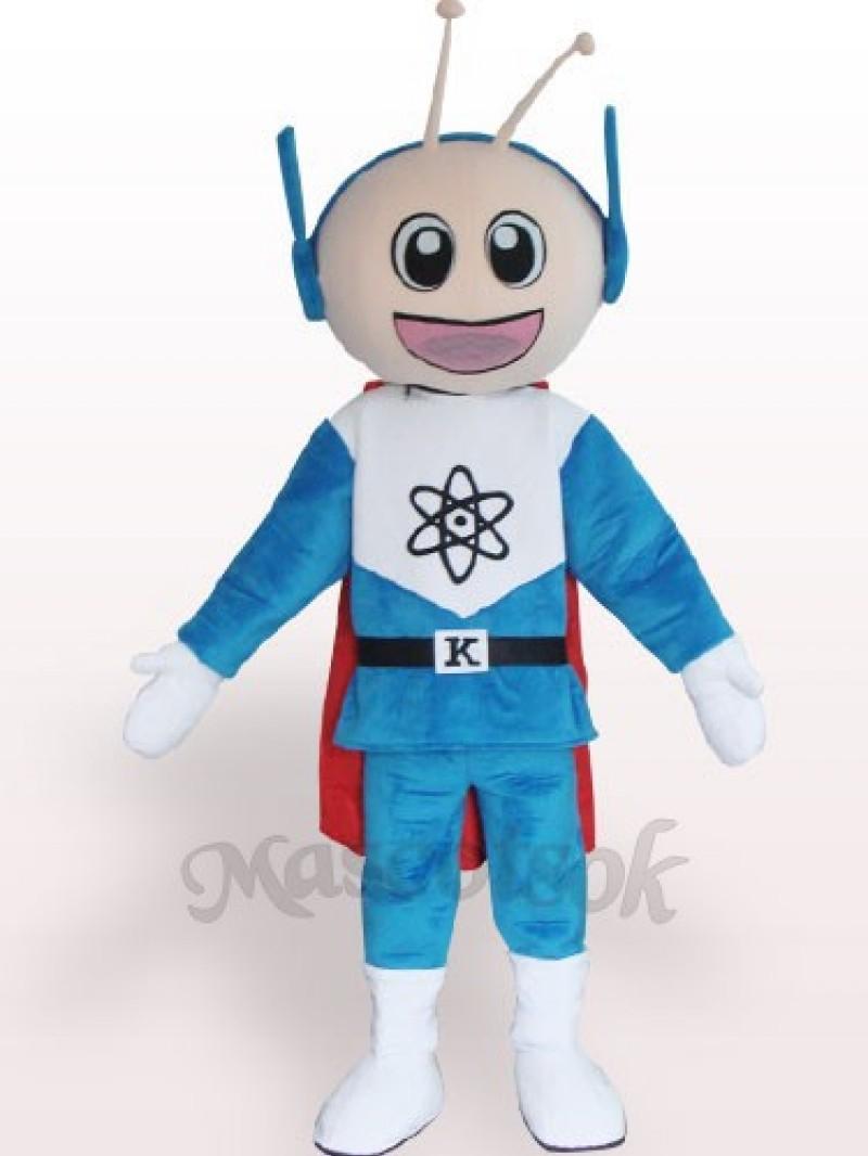 Super Man Short Plush Adult Mascot Costume