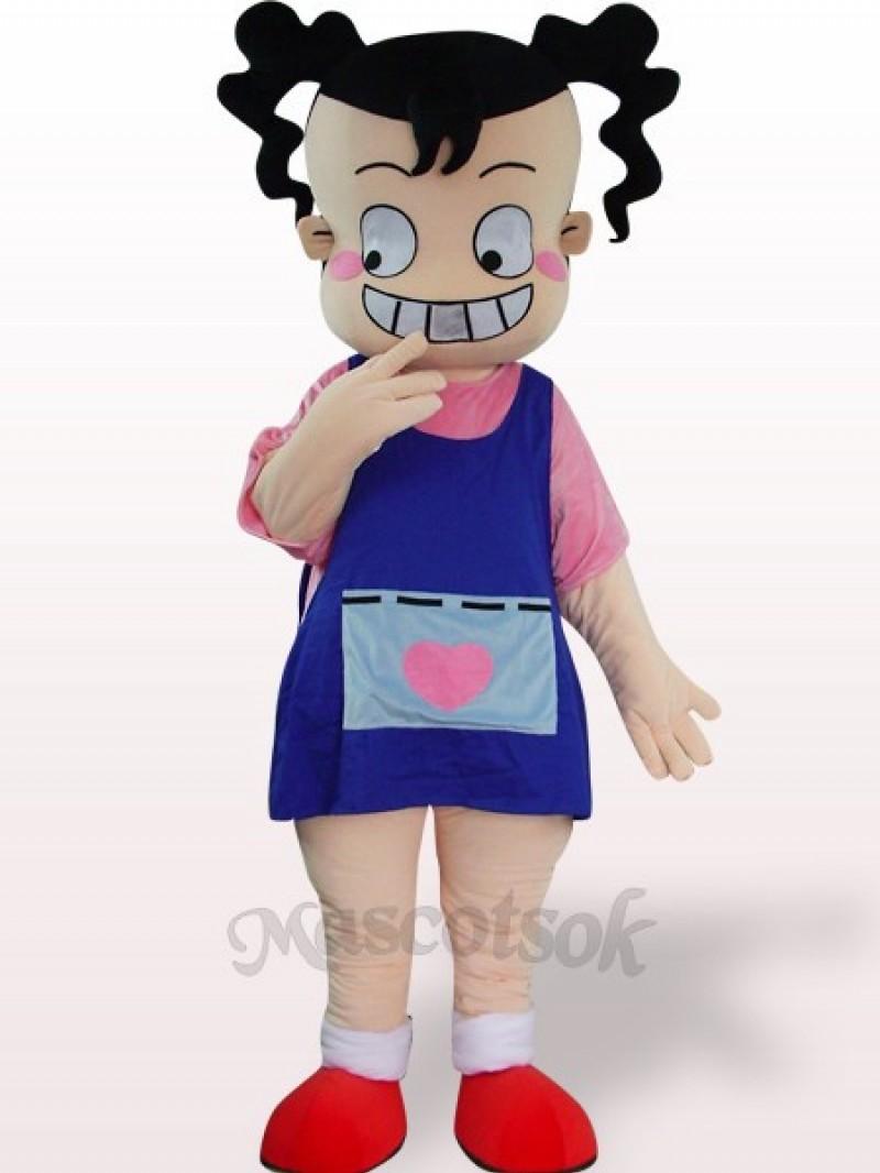 Ugly Girl Plush Adult Mascot Costume
