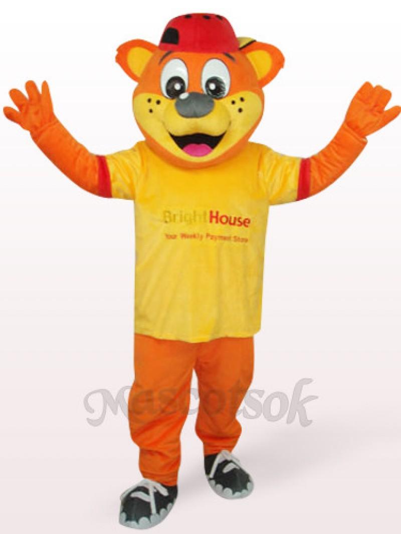 Yellow Male Pipi Bear Plush Adult Mascot Costume