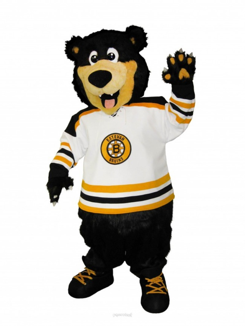 Estevan Bruins Bear Custom Ice Hockey Mascot