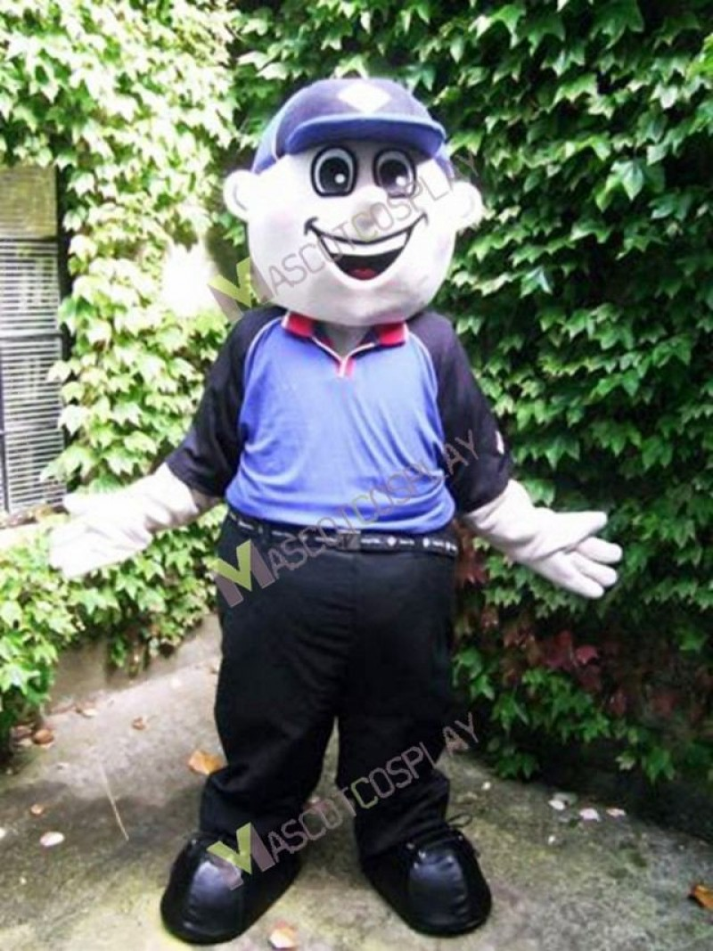 High Quality Adult Danny Domino Boy with Cap Mascot Costume