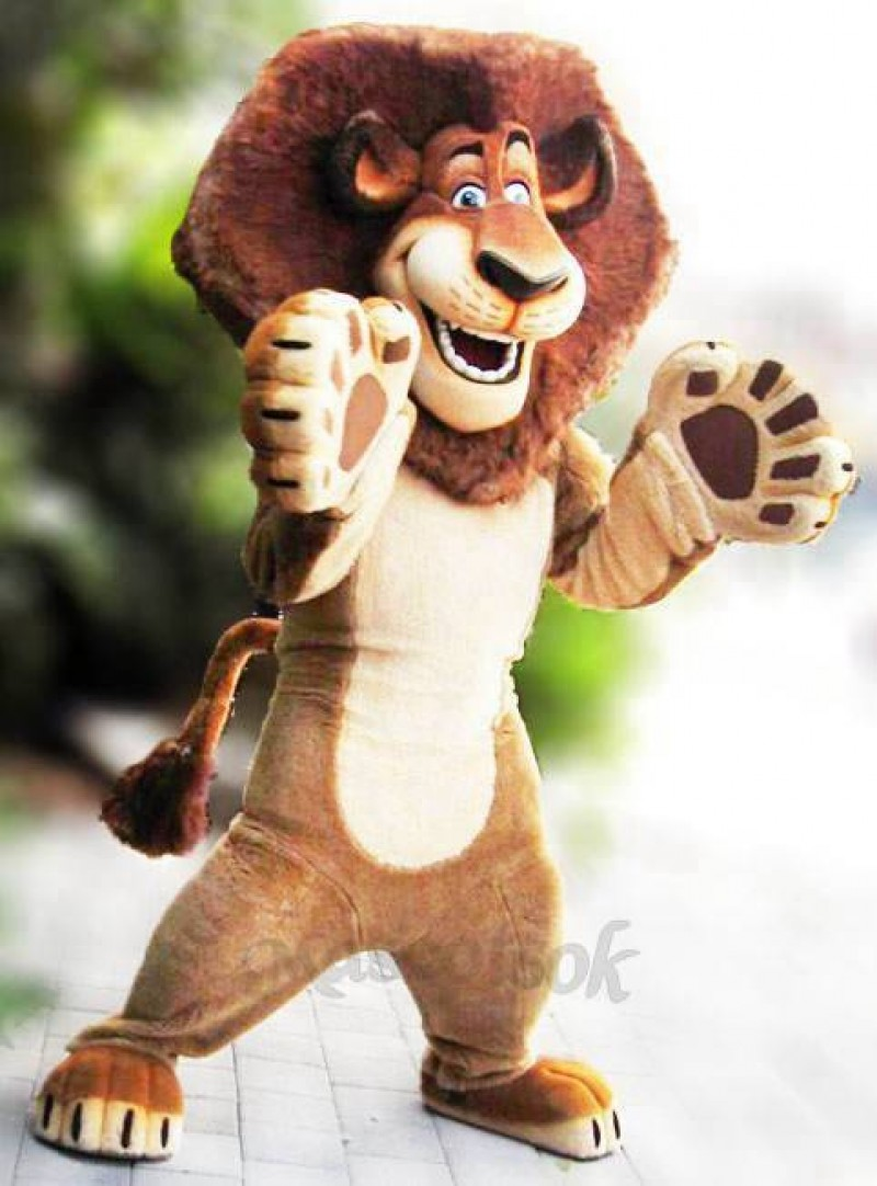 Alex The Lion Mascot Costumes