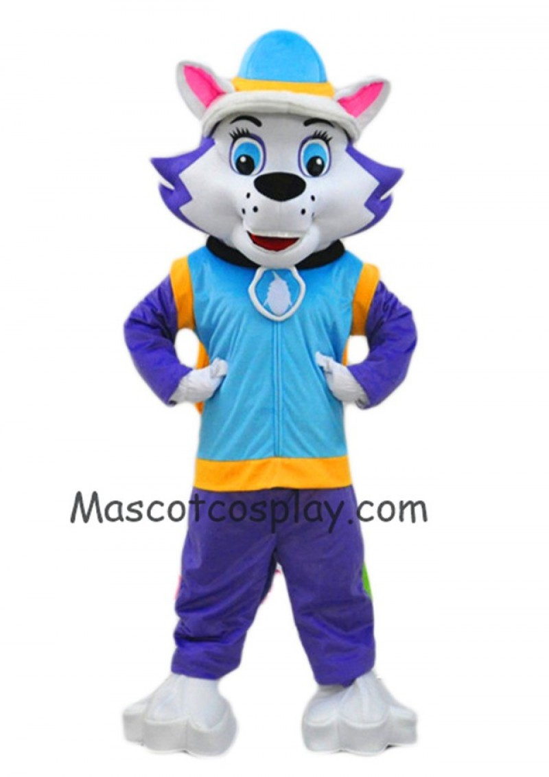 Husky Dog Everest Mascot Costume Paw Patrol Snowy Mountain Pup Cartoon Costumes