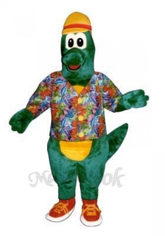 Al Gator with Hat, Shirt & Tennis Shoes Mascot Costume