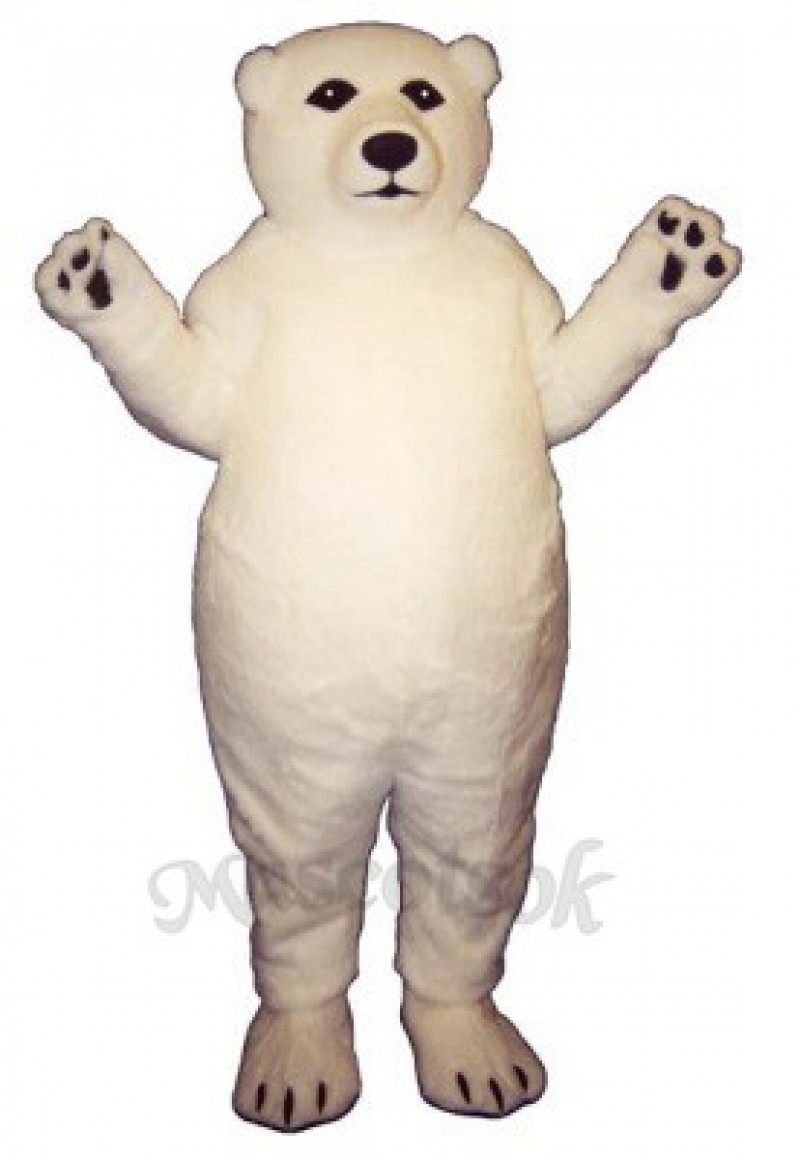 Fatty Polar Bear Mascot Costume