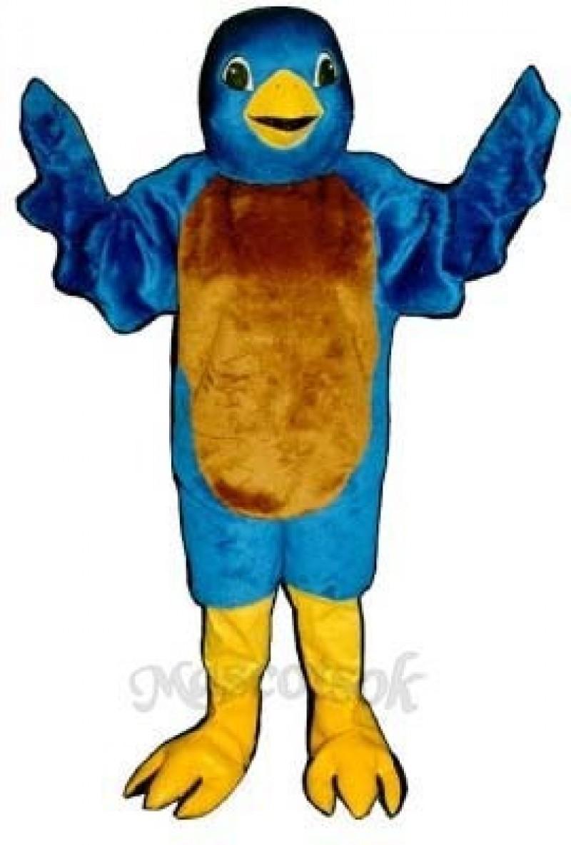 Cute Blue Bird Mascot Costume