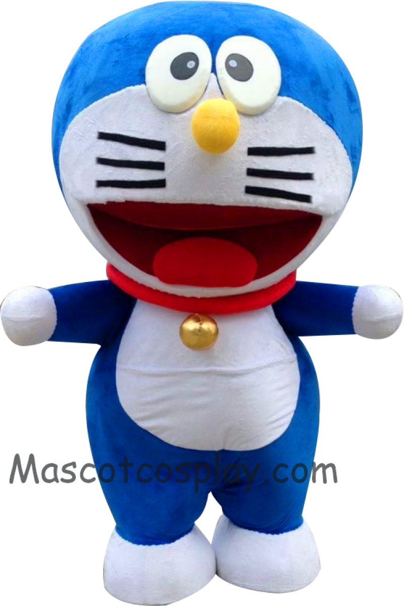 High Quality Popular Janpanese Cartoon Anime Lovely Blue Round Doraemon Mascot Costume