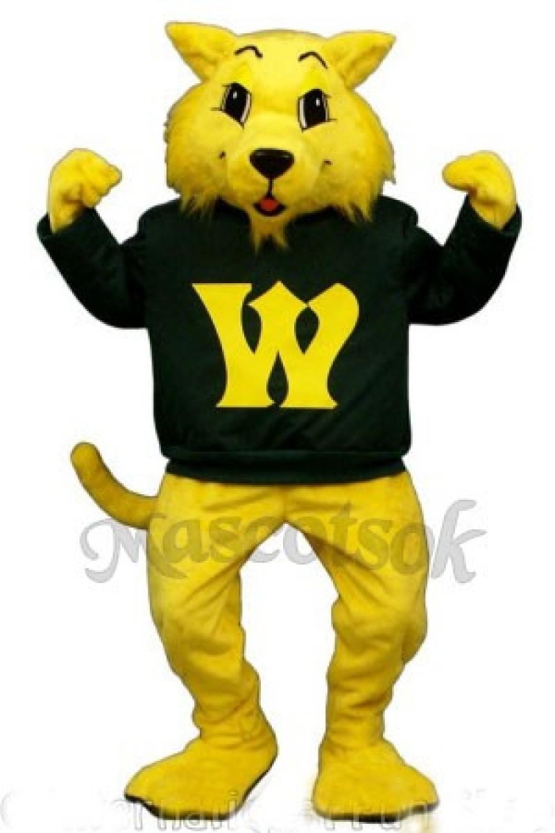 Cute Winner Wildcat Cat Mascot Costume