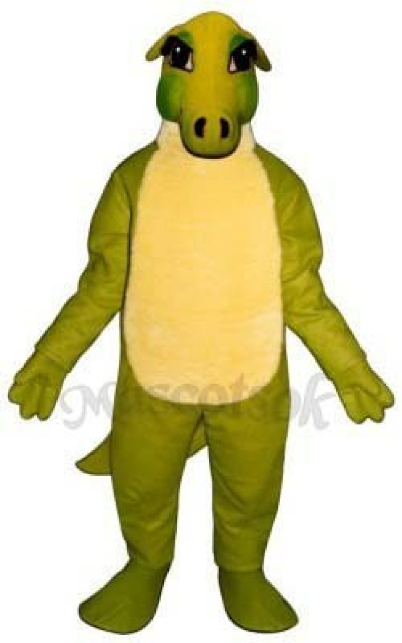 Friendly Dinosaur Mascot Costume