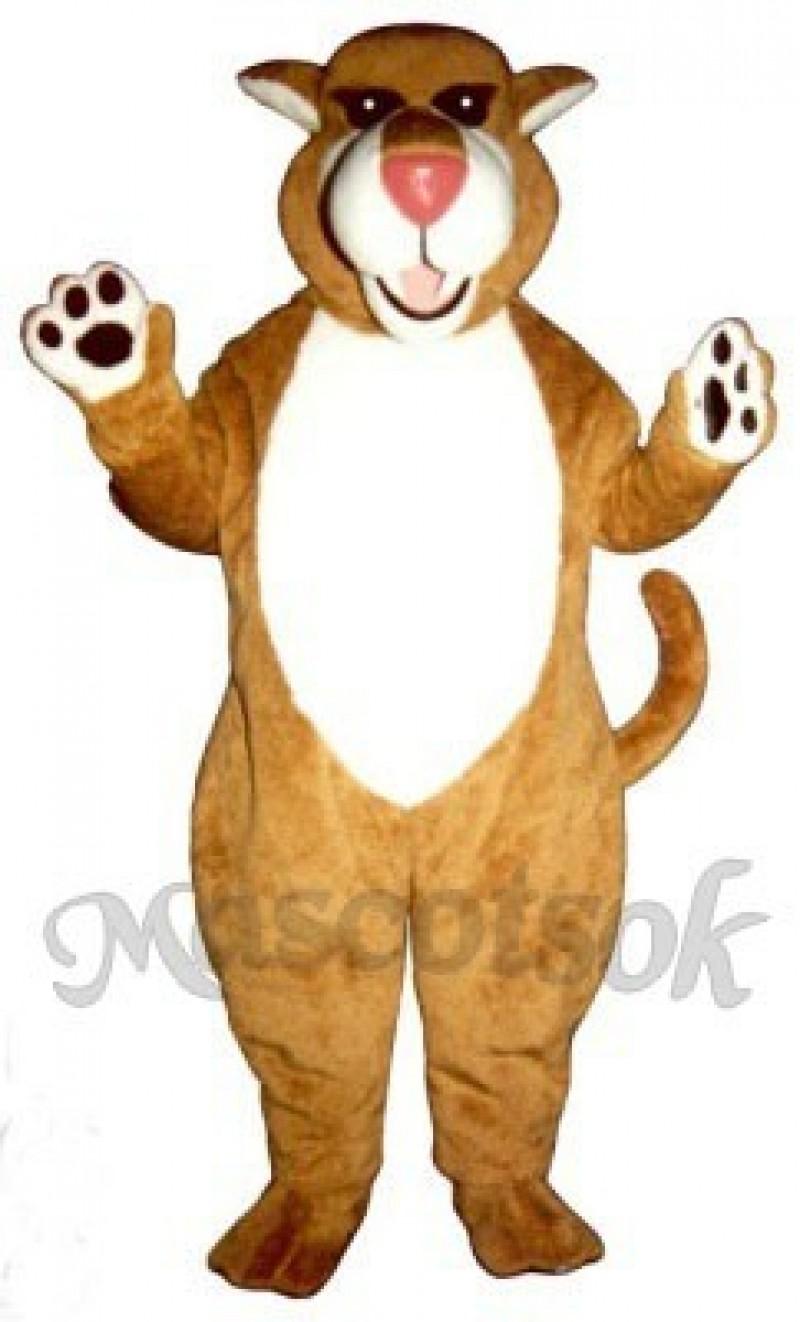 Cute Saber Tooth Cat Mascot Costume