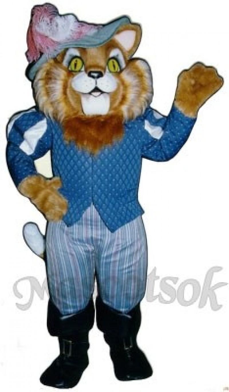 Cute Sir Thomas Boots Cat Mascot Costume