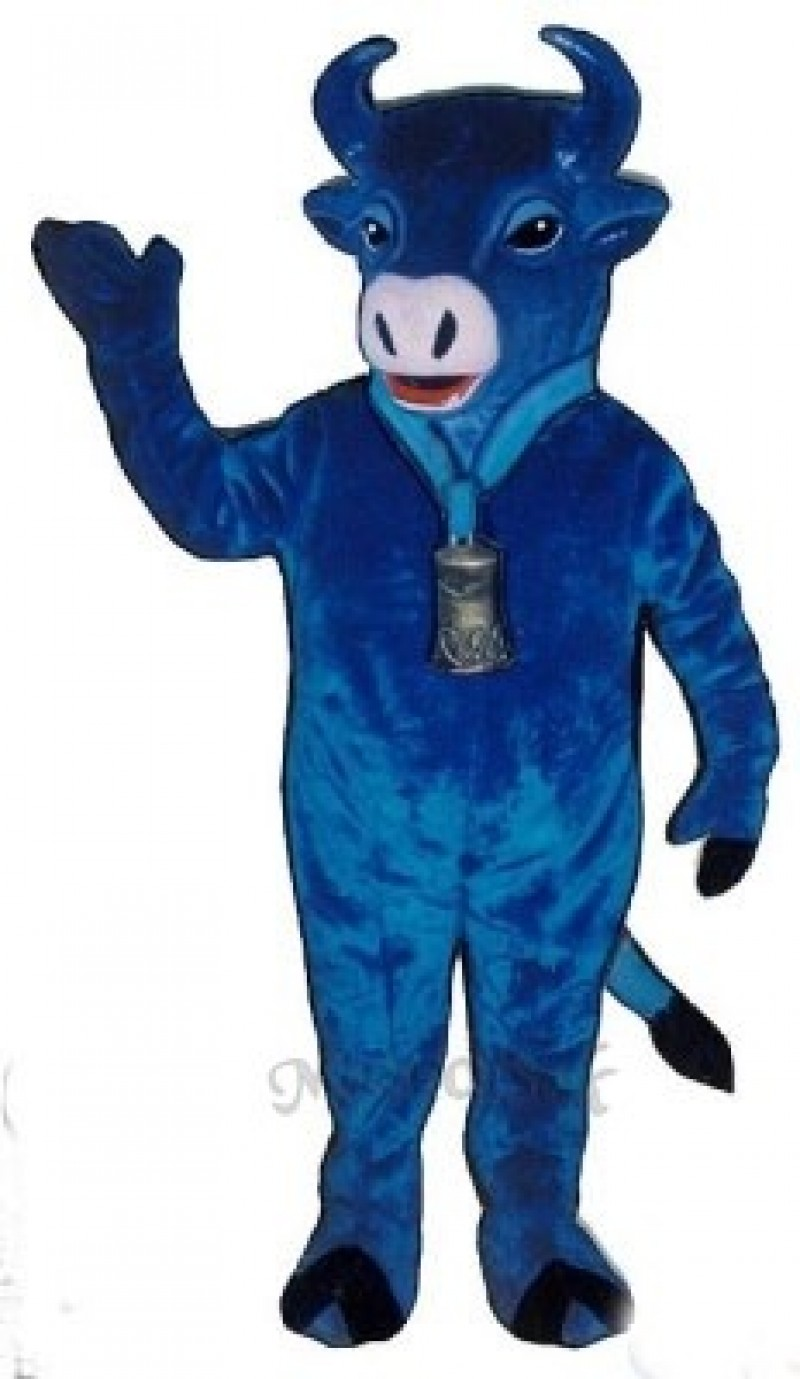 Blue Belle Cattle Mascot Costume