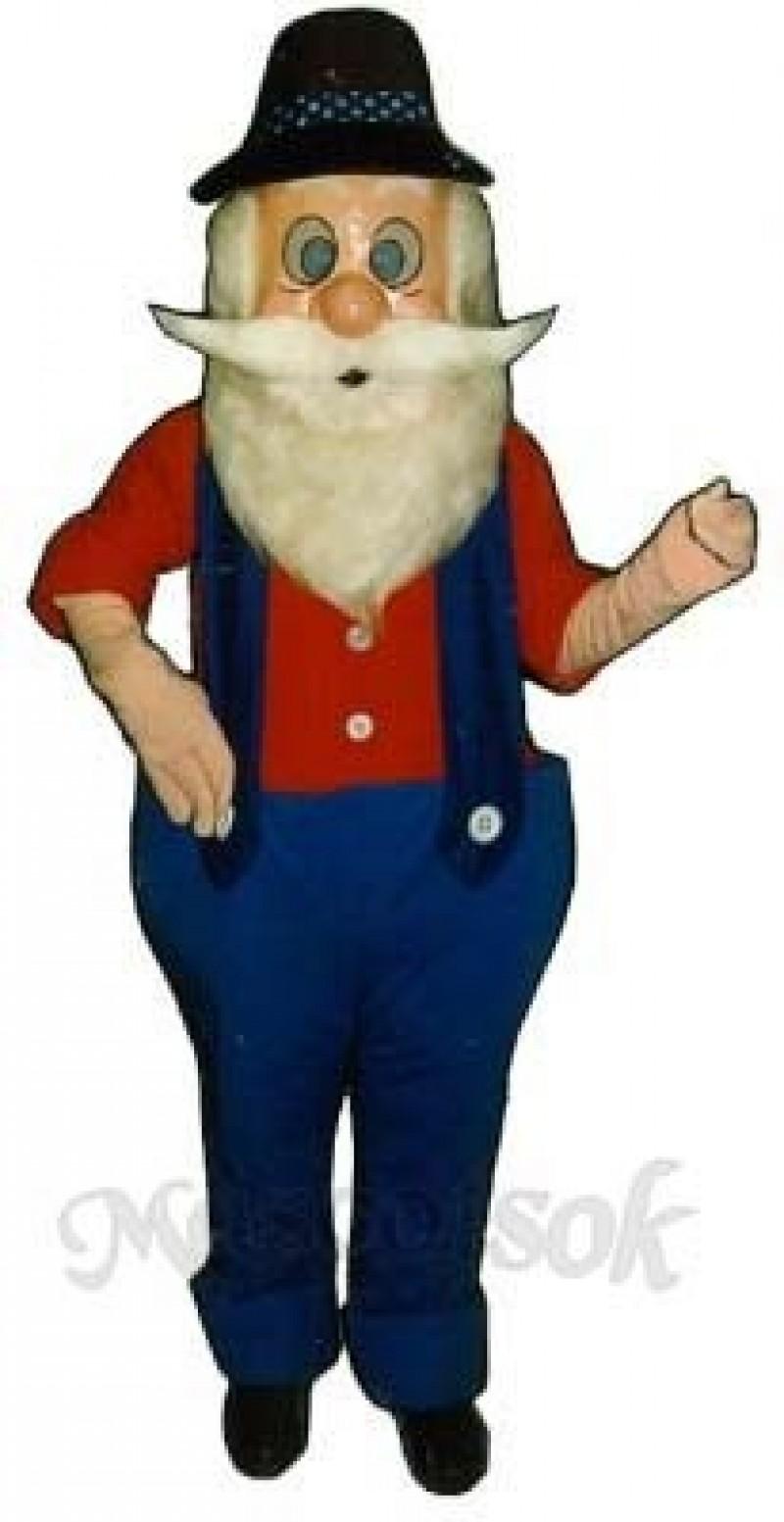 Hillbilly Harold Mascot Costume