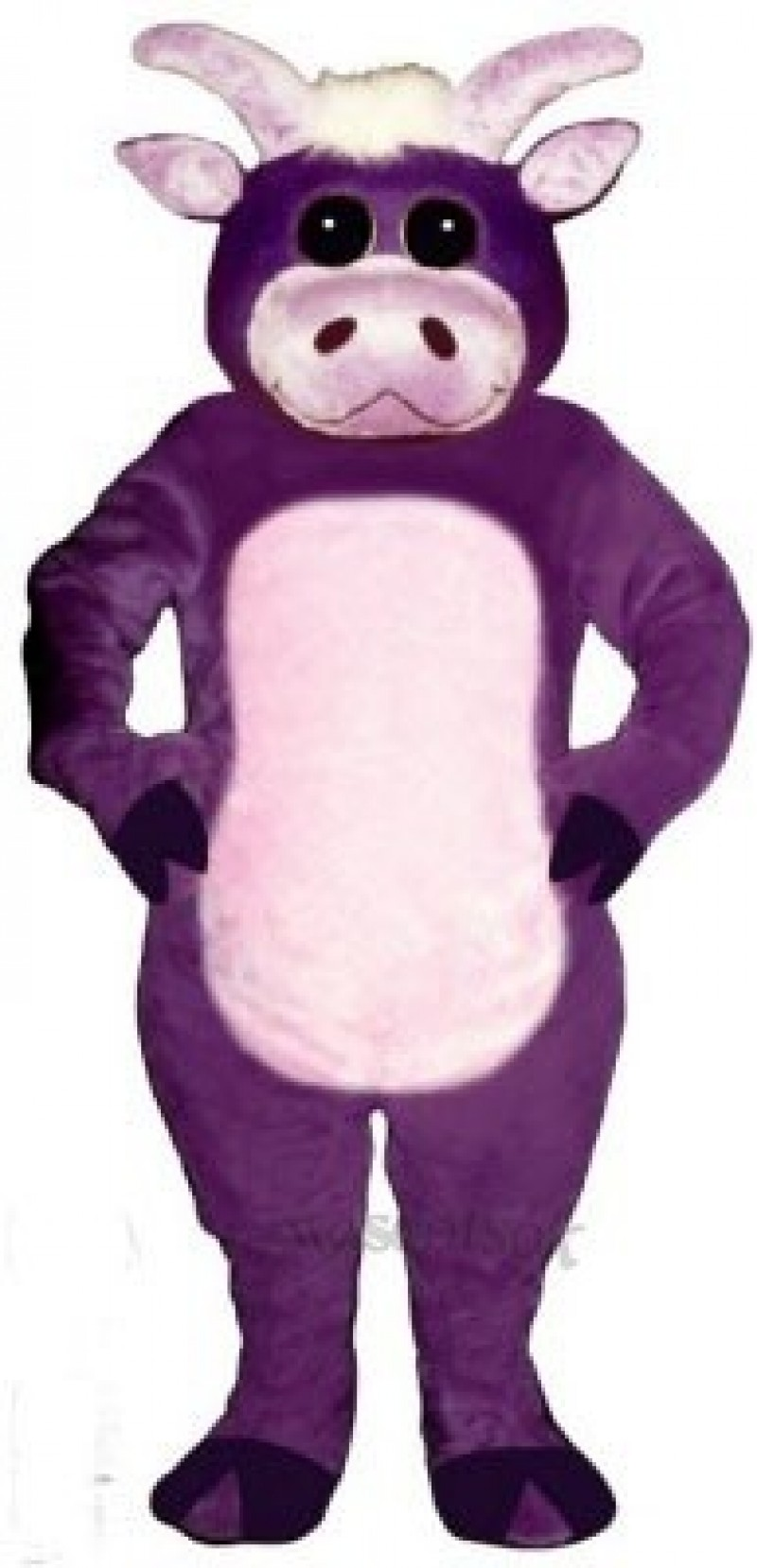 Cute Purple Bull Mascot Costume