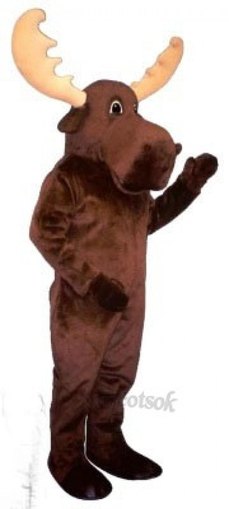 Cute Bull Moose Mascot Costume