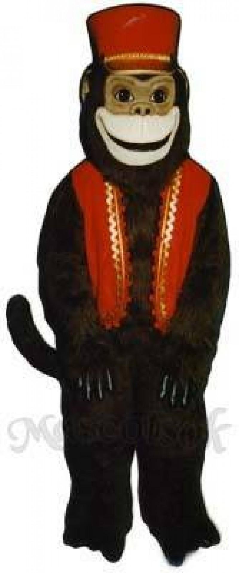 Organ Grinder Monkey with Vest & Hat Mascot Costume