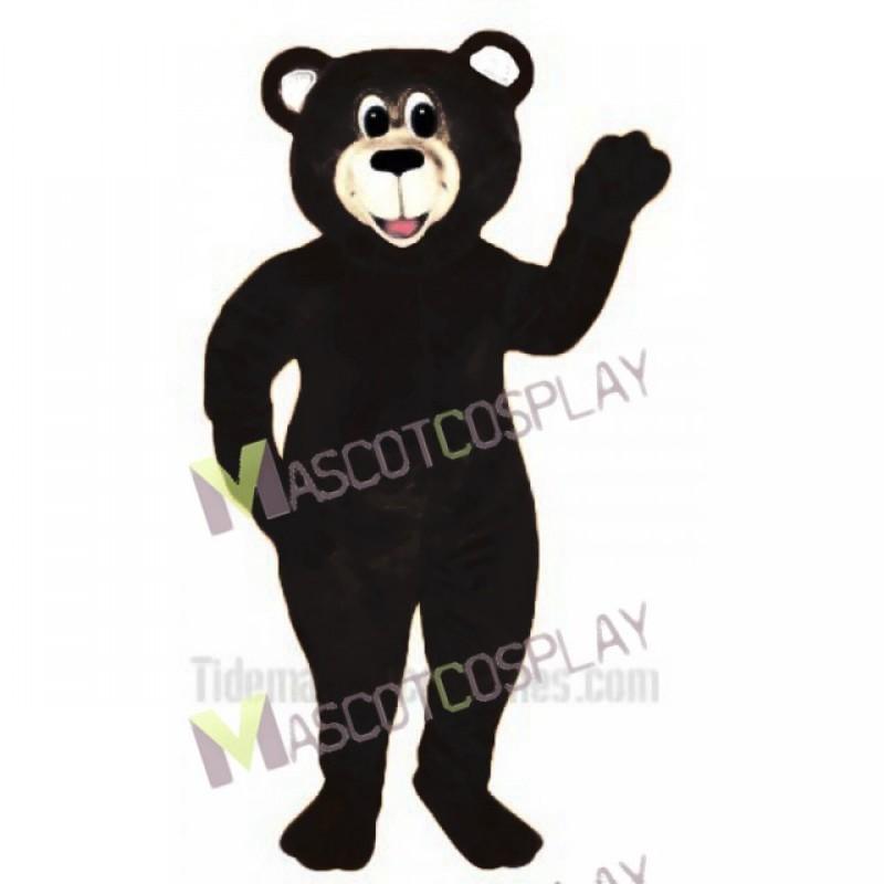 Black Lucky Bear Mascot Costume