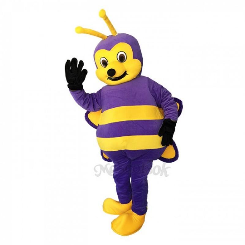 Lovely Purple Bee Mascot Adult Costume