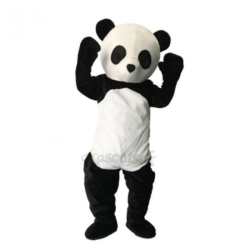 Lovely Black And White Panda Plush Adult Mascot Funny Costume