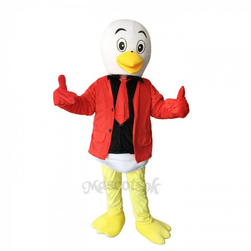 Little Lovely Red Crane Plush Adult Mascot Costume