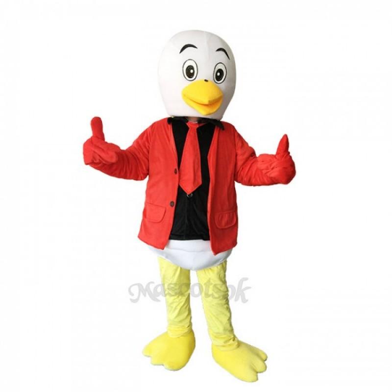Little Lovely Red Crane Plush Adult Mascot Costume