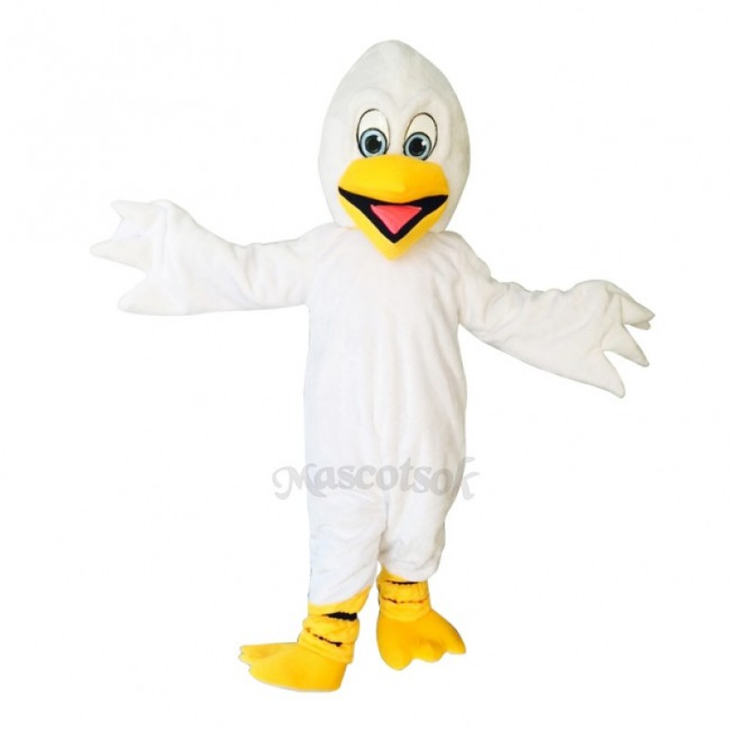New Pelican Pete With Yellow Feet Costume Mascot