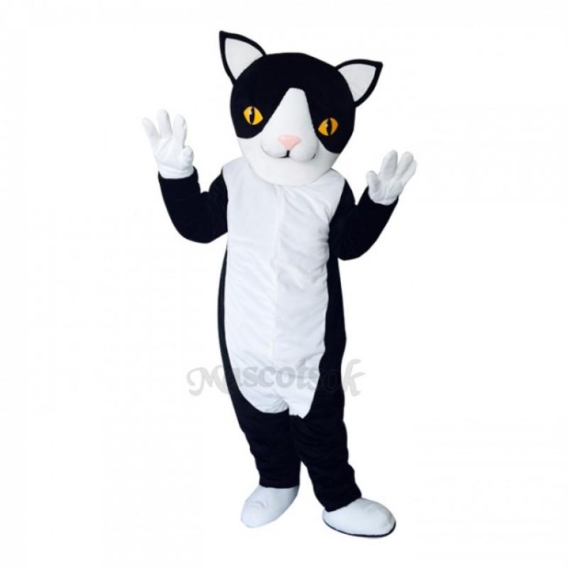 New Black and White Cute Cat Mascot Costume