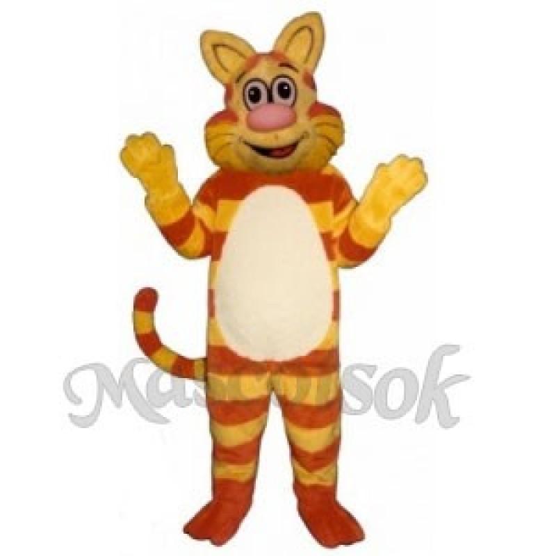 Cute Tabby Cat Mascot Costume