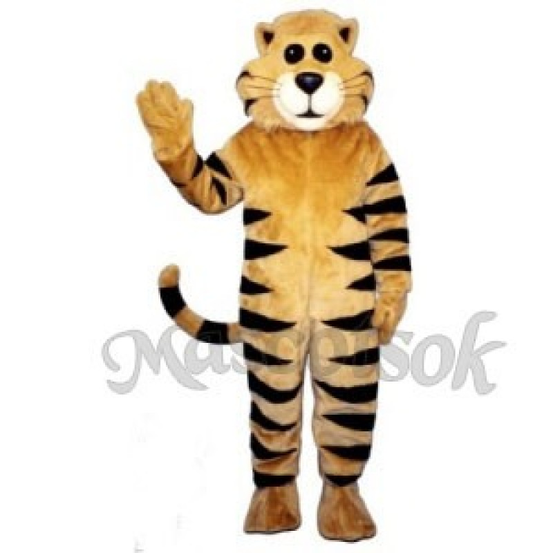 Cute Tan Meow Cat Mascot Costume