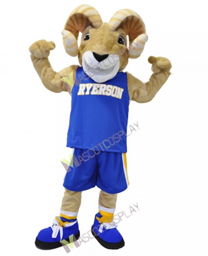 Sport Team Ram Ryerson Mascot Costume Cartoon Character Animal Costume