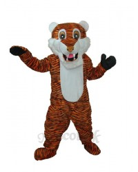 Reddish Brown Stripe Tiger Adult Mascot Costume