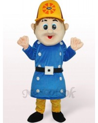Blue Worker Sam Plush Adult Mascot Costume