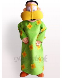 Fat Woman In Green Clothes Plush Adult Mascot Costume